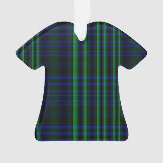 Tela escocesa azul y verde comprobada