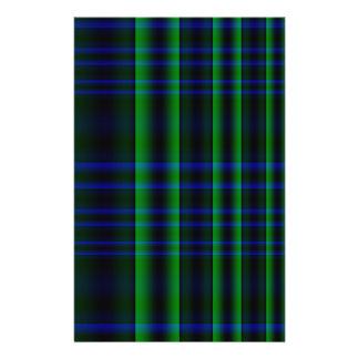 """Tela escocesa azul y verde comprobada folleto 5.5"""" x 8.5"""""""