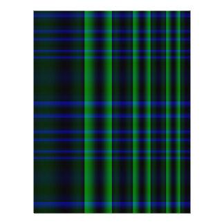 """Tela escocesa azul y verde comprobada folleto 8.5"""" x 11"""""""
