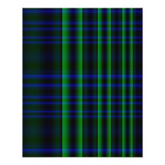 """Tela escocesa azul y verde comprobada folleto 4.5"""" x 5.6"""""""