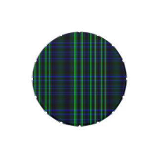 Tela escocesa azul y verde comprobada jarrones de caramelos