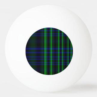 Tela escocesa azul y verde comprobada pelota de tenis de mesa