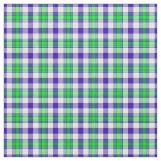 Tela escocesa azul y verde telas