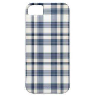 Tela escocesa blanca azul 1 iPhone 5 fundas
