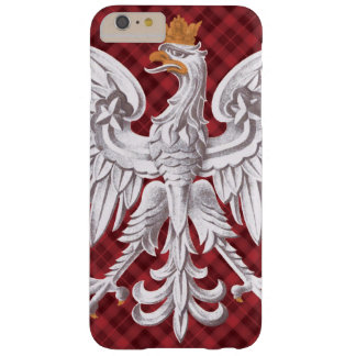 Tela escocesa blanca polaca de Eagle Funda Barely There iPhone 6 Plus