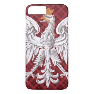 Tela escocesa blanca polaca de Eagle Funda iPhone 7 Plus