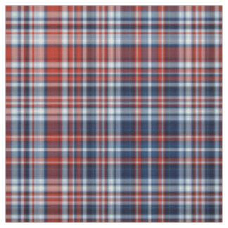 Tela escocesa blanca y azul roja telas