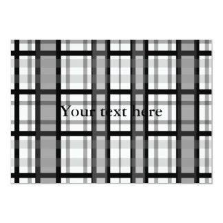 Tela escocesa blanco y negro moderna comunicado