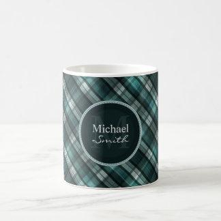 Tela escocesa ciánica oscura fresca (del verde taza