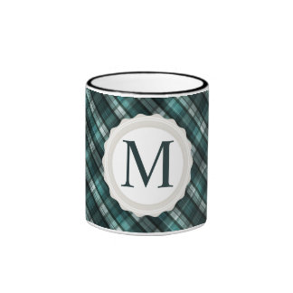 Tela escocesa ciánica oscura fresca (del verde taza de dos colores