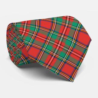 Tela escocesa clásica del navidad corbatas personalizadas