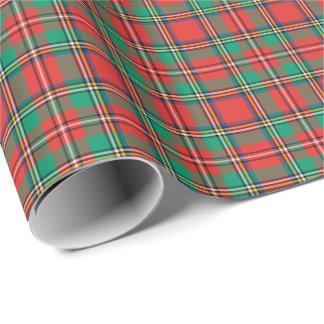 Tela escocesa clásica del navidad papel de regalo