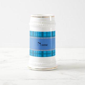 Tela escocesa conocida personalizada del azul de c taza