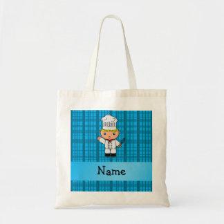 Tela escocesa conocida personalizada del azul del  bolsa