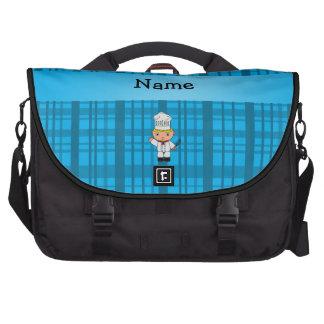 Tela escocesa conocida personalizada del azul del  bolsas de ordenador