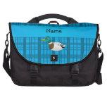 Tela escocesa conocida personalizada del azul del  bolsa de ordenador