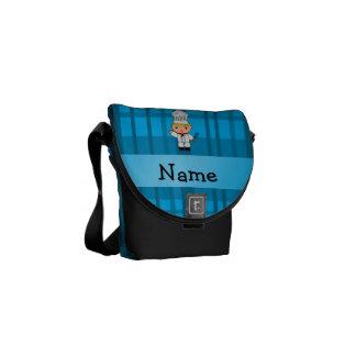 Tela escocesa conocida personalizada del azul del  bolsa de mensajeria