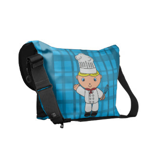 Tela escocesa conocida personalizada del azul del  bolsa de mensajería