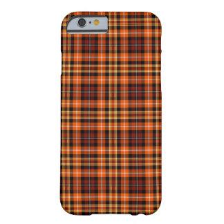 Tela escocesa de Brown, anaranjada y amarilla Funda Barely There iPhone 6