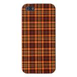 Tela escocesa de Brown, anaranjada y amarilla iPhone 5 Carcasa