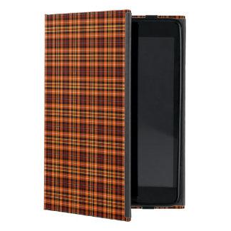 Tela escocesa de Brown, anaranjada y amarilla iPad Mini Coberturas