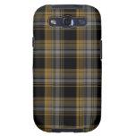 Tela escocesa de Brown oscuro y del oro Samsung Galaxy S3 Cobertura