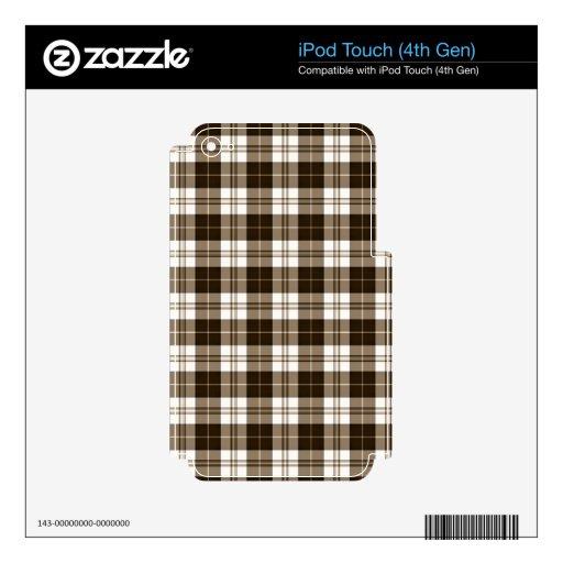 Tela escocesa de Brown Skins Para iPod Touch 4G