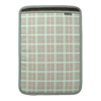 Tela escocesa de color topo y de Seafoam Fundas Macbook Air