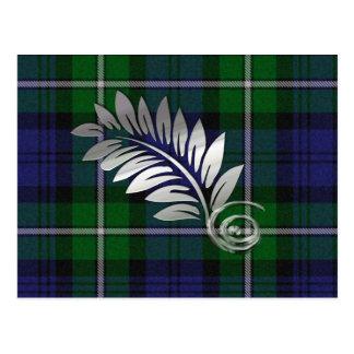 Tela escocesa de Forbes y reserva del helecho la p Tarjeta Postal