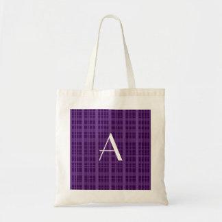 Tela escocesa de la púrpura del monograma bolsa tela barata