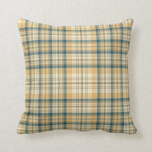 Tela escocesa de la vainilla almohadas