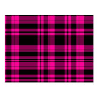 Tela escocesa de las rosas fuertes del Punky Tarjeta Postal