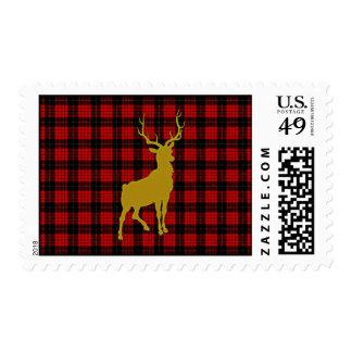 Tela escocesa de los ciervos franqueo