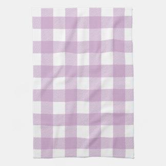 Tela escocesa de muy buen gusto púrpura del contro toallas de mano