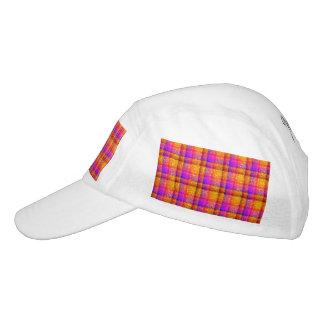 Tela escocesa de neón reluciente gorra de alto rendimiento