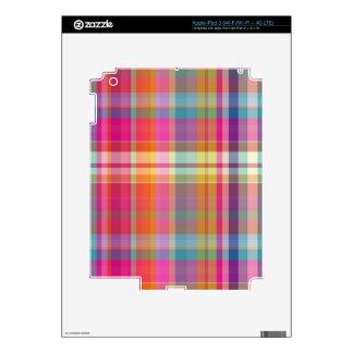 Tela escocesa de PixDezines malibu Pegatinas Skins Para iPad 3