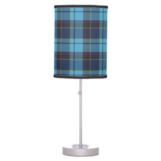 Tela escocesa de tartán azul lámpara de mesilla de noche