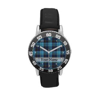 Tela escocesa de tartán azul relojes