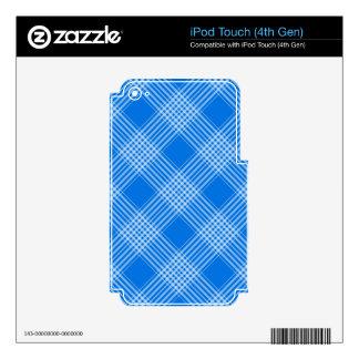 tela escocesa de tartán azul skins para iPod touch 4G