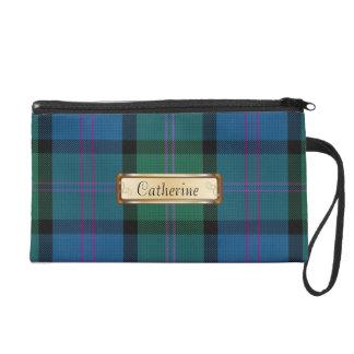 Tela escocesa de tartán azul y verde del clan de M