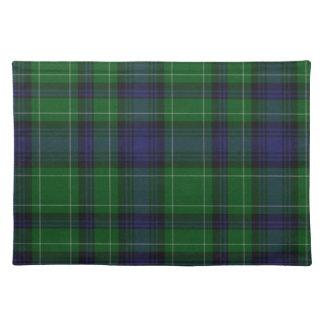 Tela escocesa de tartán azul y verde elegante de A Manteles