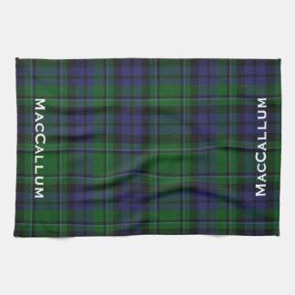 Tela escocesa de tartán azul y verde elegante de M Toallas De Mano