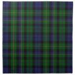 Tela escocesa de tartán azul y verde elegante de M Servilletas
