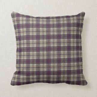 Tela escocesa de tartán cómoda acogedora cojín decorativo