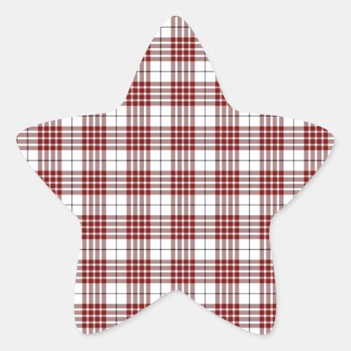 Tela escocesa de tartán de Buchanan Pegatina En Forma De Estrella