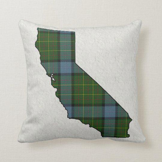 Tela escocesa de tartán de California Cojín Decorativo