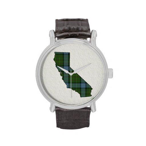 Tela escocesa de tartán de California Relojes De Pulsera