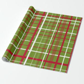 Tela escocesa de tartán del navidad papel de regalo