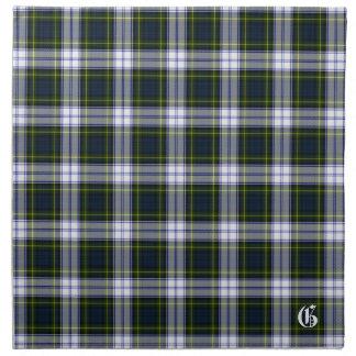 Tela escocesa de tartán elegante del monograma del servilleta