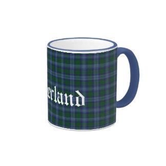 Tela escocesa de tartán escocesa de encargo del cl taza a dos colores